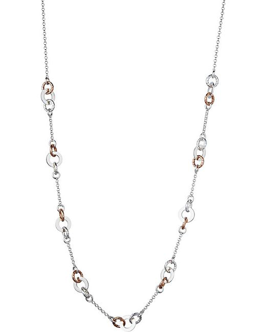 Links of London | Metallic Aurora Sterling Silver And Rose Gold-toned Link Station Necklace | Lyst