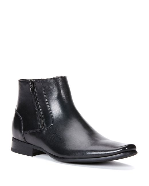Calvin Klein | Black Beck Leather Boots for Men | Lyst