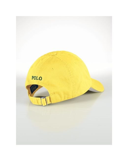 Polo Ralph Lauren | Yellow Cotton Chino Baseball Cap for Men | Lyst