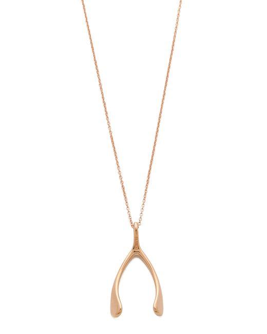 Jennifer Meyer | Metallic Wishbone Necklace | Lyst
