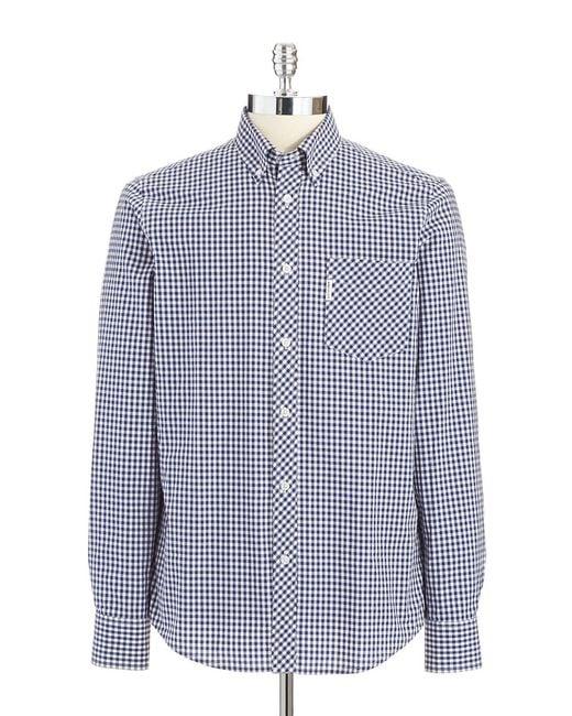 Ben Sherman | Blue Gingham Plaid Sportshirt for Men | Lyst