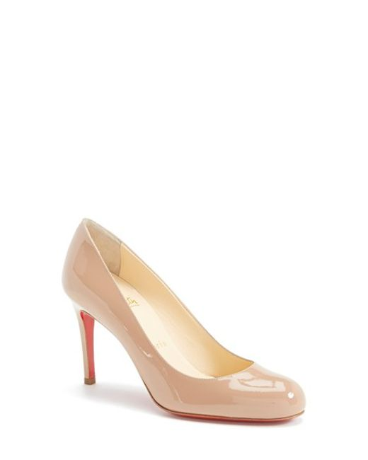Christian Louboutin | Natural Simple Patent Leather Pumps | Lyst