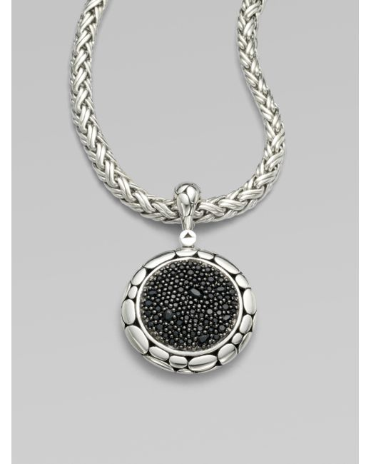 John Hardy | Metallic Kali Black Sapphire & Sterling Silver Lava Enhancer | Lyst