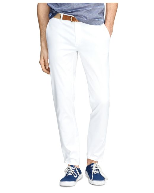 Brooks Brothers   White Bedford Cord Chinos for Men   Lyst