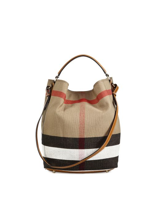c70d0f1568be Burberry The Medium Ashby House Check Cotton Shoulder Bag .