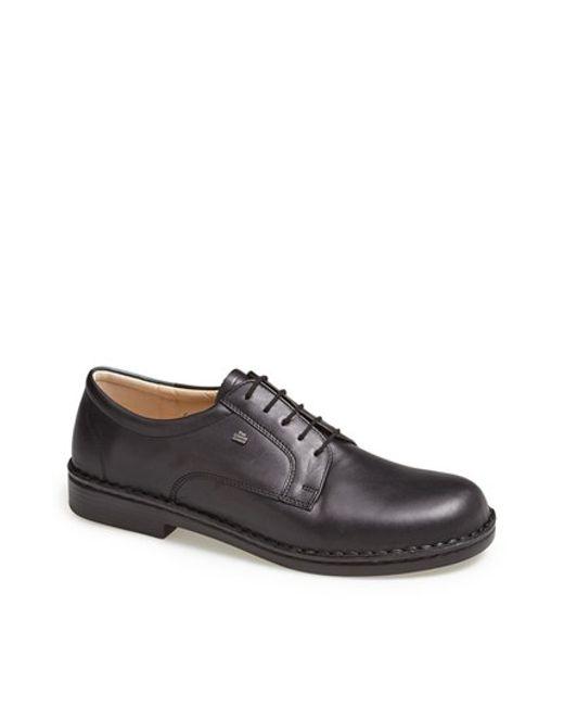 Finn Comfort | Black 'milano' Plain Toe Derby for Men | Lyst