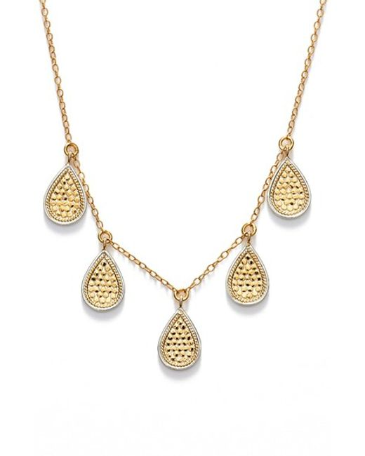 Anna Beck | Metallic 'gili' Frontal Necklace | Lyst