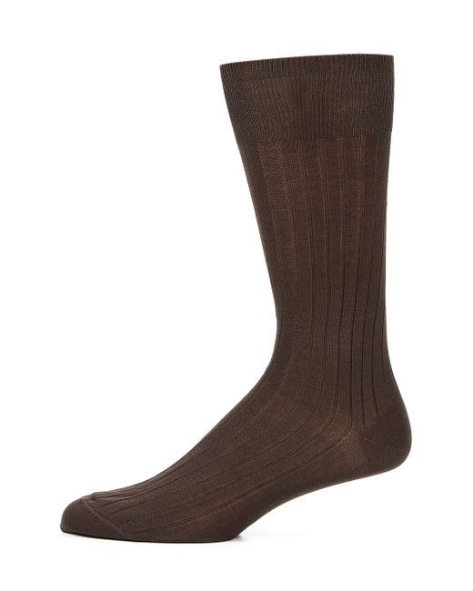 Saks Fifth Avenue | Brown Cotton-blend Dress Socks for Men | Lyst