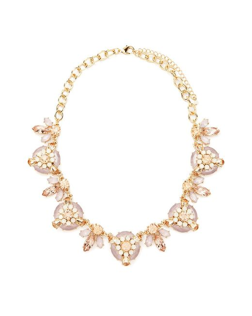 Forever 21   Pink Faux Gem Statement Necklace   Lyst