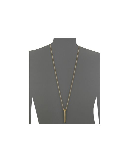 Giles & Brother | Metallic Railroad Spike Pendant Necklace | Lyst
