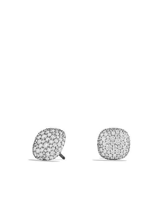 David Yurman | Pavé Earrings With Diamonds In 18k White Gold | Lyst