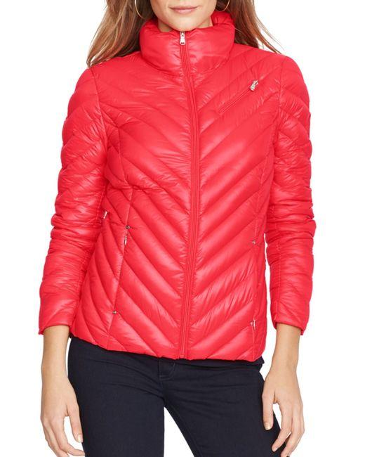 Pink pony Lauren Jacket - Chevron Quilted Packable Zip