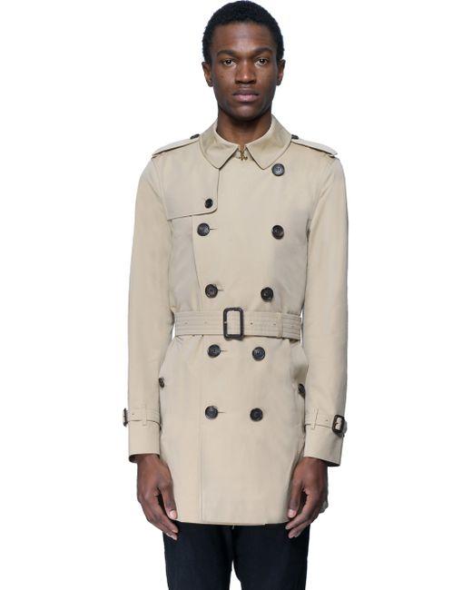 Burberry london rainwear in beige for men size chart lyst for Burberry shirt size chart