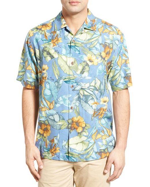 Tommy bahama 39 bloomarang 39 short sleeve silk camp shirt in for Tommy bahama short sleeve silk camp shirt