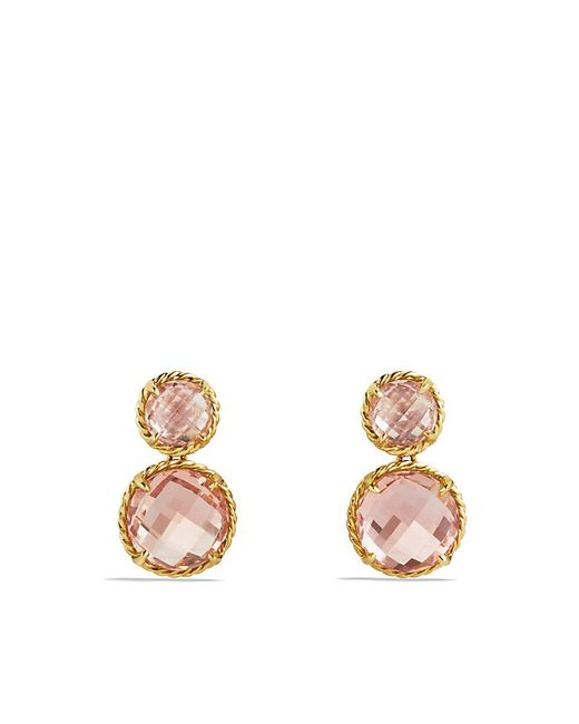 David Yurman | Yellow Chatelaine Mini Double-drop Earrings With Morganite In 18k Gold | Lyst