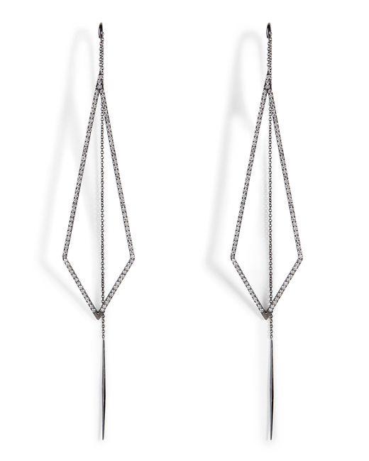 Diane Kordas | 18k Black Gold Triangular Drop Earrings | Lyst
