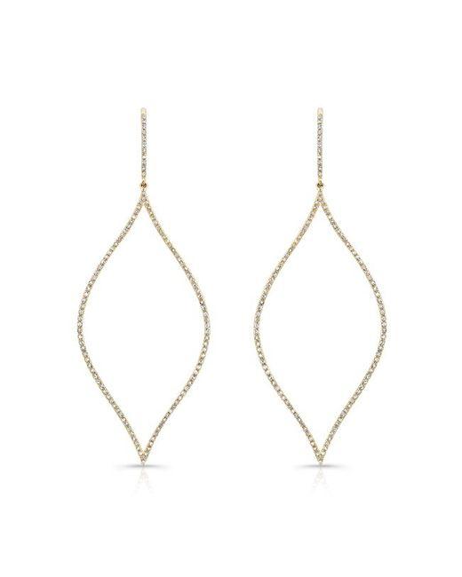 Anne Sisteron | Metallic 14kt Yellow Gold Diamond Open Marquis Earrings | Lyst