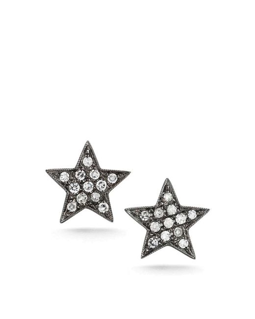 Dana Rebecca | Black Julianne White Diamond Studs | Lyst