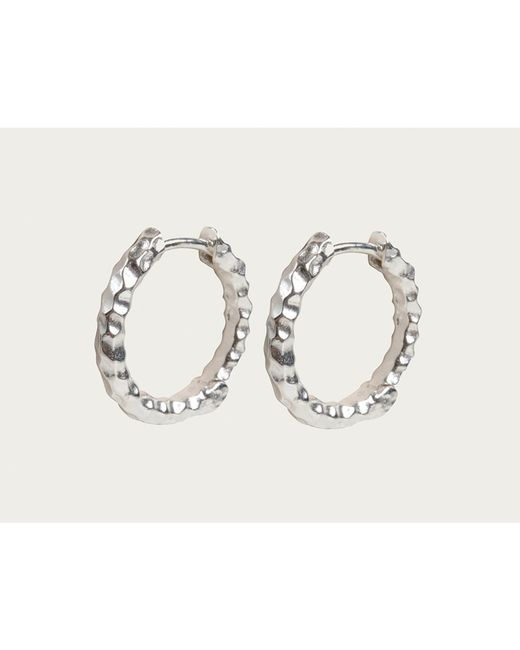 Davina Combe | Metallic Silver Huggie Hoops | Lyst