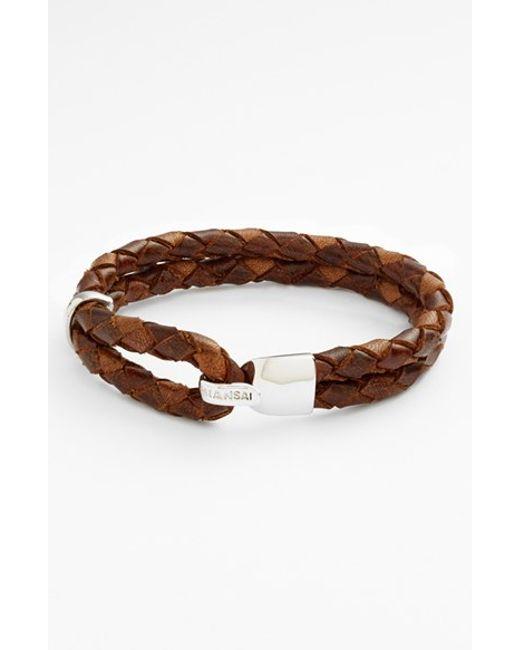 Miansai | Brown 'beacon' Braided Leather Bracelet for Men | Lyst