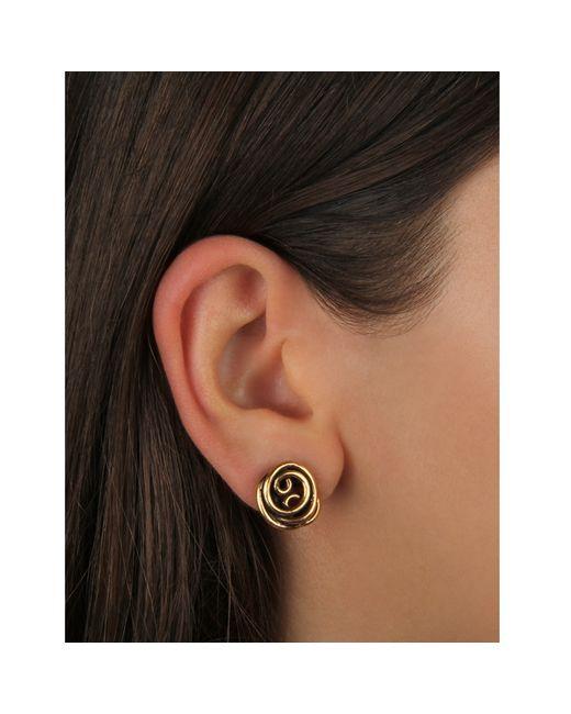 Oscar de la Renta | Pink Wire Rose Button Earring | Lyst