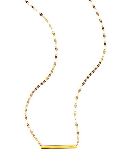 Lana Jewelry   Metallic Mini Bar Pendant Necklace   Lyst