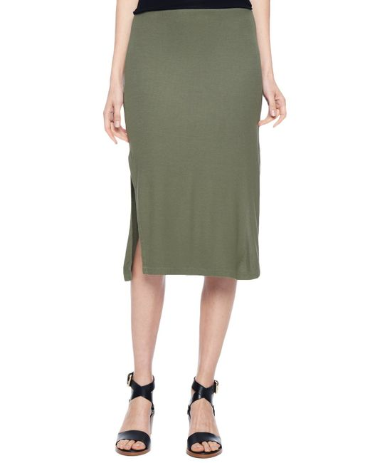 Splendid | Green Midi Pencil Skirt | Lyst