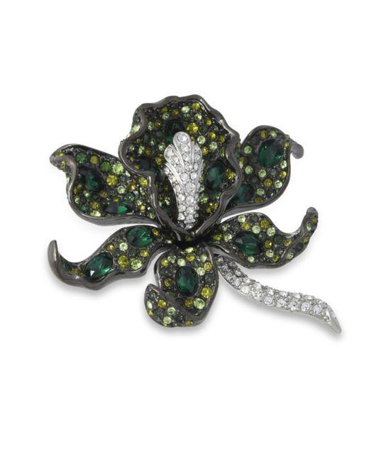 Kenneth Jay Lane | Multicolor Multi Green Orchid Brooch | Lyst