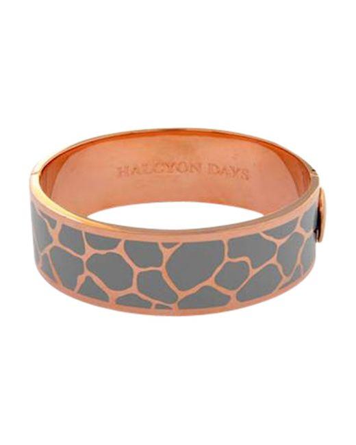 Halcyon Days | Gray Giraffe Bangle | Lyst