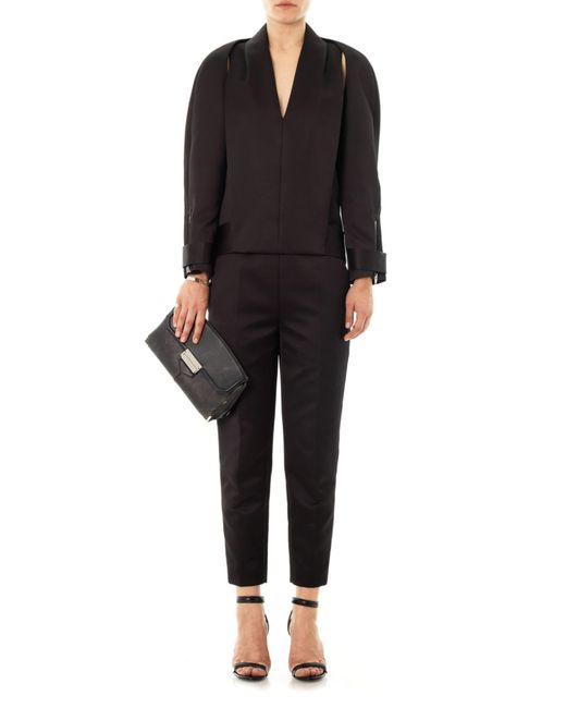 Alexander Wang Compact Twill Tuxedo Jumpsuit In Black Lyst