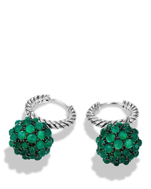 David Yurman | Osetra Earrings With Green Onyx | Lyst