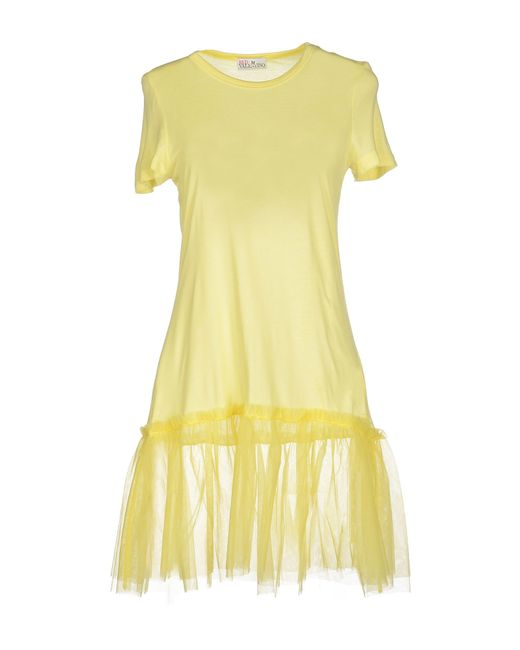 Red valentino t shirt in yellow lyst for Red valentino t shirt