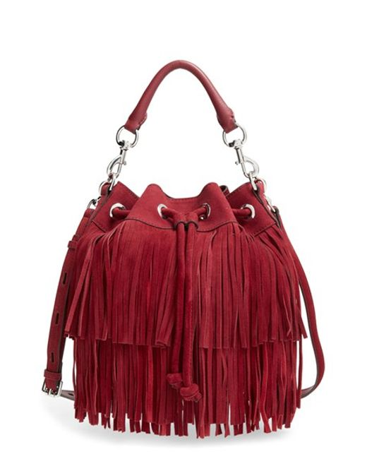 Rebecca Minkoff | Red 'fiona' Bucket Bag | Lyst