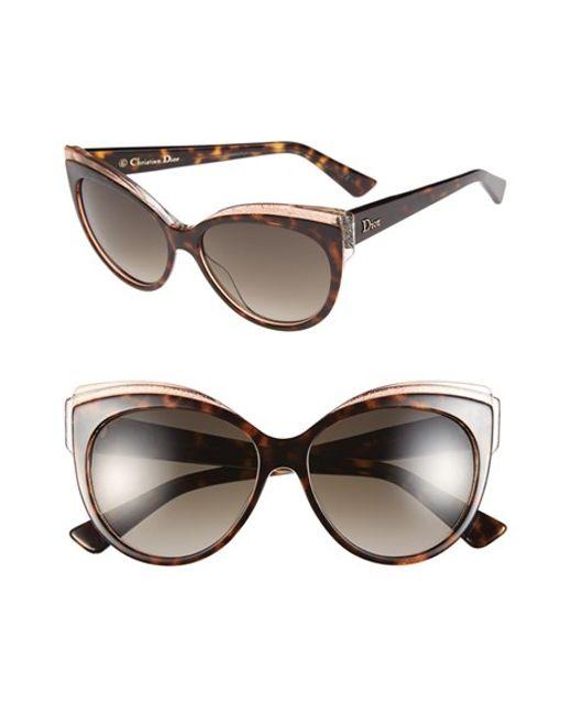 Dior Glasses Frames Cat Eye : Dior glisten 1 56mm Cat Eye Sunglasses - Havana in Brown ...