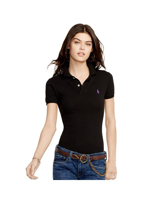 Polo Ralph Lauren | Black Skinny Fit Polo Shirt | Lyst