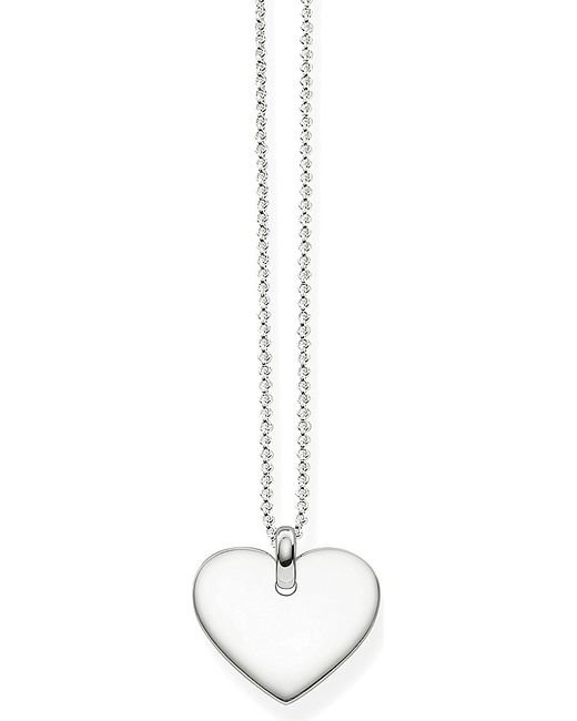 Thomas Sabo | Metallic Heart Tag Sterling Silver Necklace | Lyst