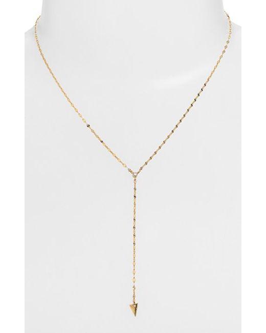 Lana Jewelry   Yellow 'triangle' Diamond Y-necklace   Lyst