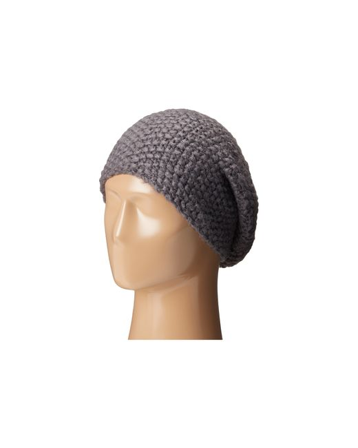 Hat Attack | Gray Slouchy/cuff Hat | Lyst