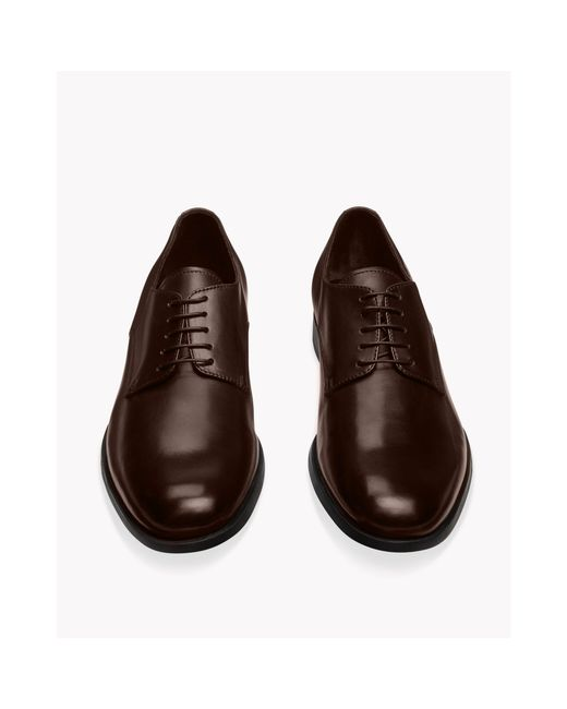 Theory | Brown Etten Shoe In Brushed Calf for Men | Lyst