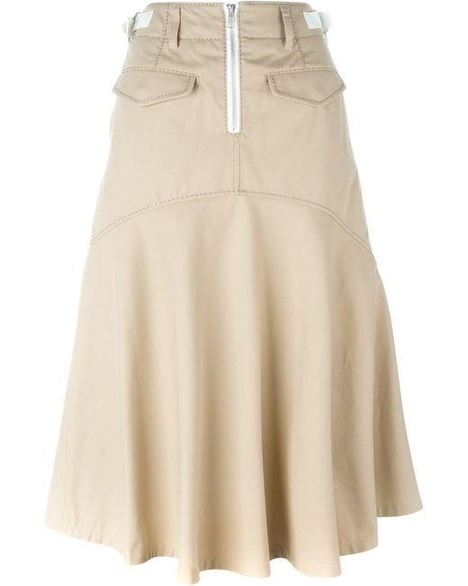 sacai a line skirt in beige neutrals save 30