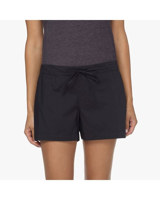 James Perse | Black Laundered Cotton Pajama Short | Lyst
