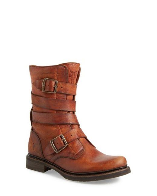 Frye | Brown 'veronica' Tanker Boot | Lyst