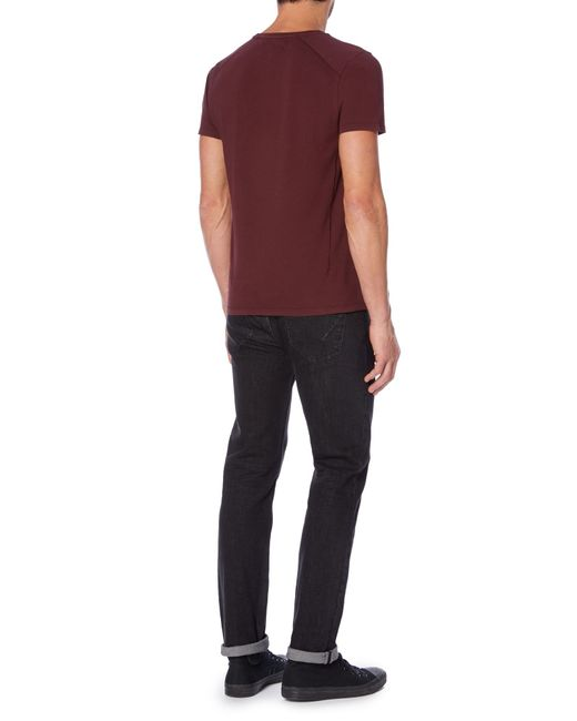 Label Lab | Purple Jubilee Pocket T With Studd for Men | Lyst