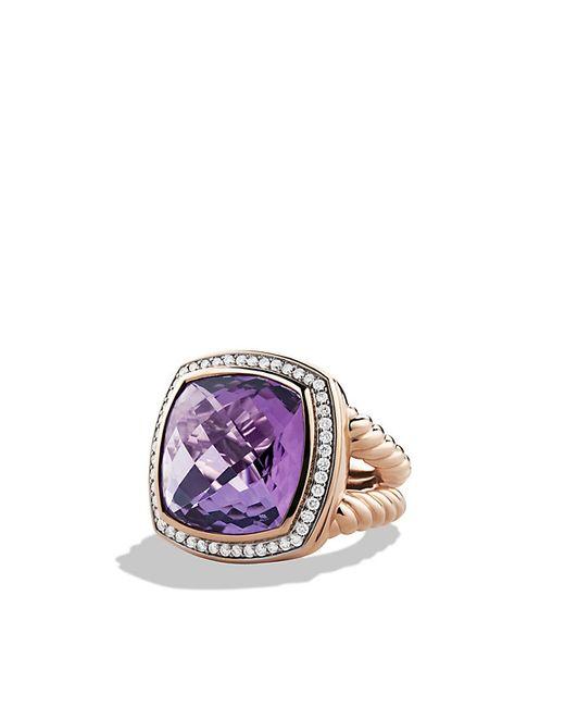 David Yurman | Purple Albion Ring With Diamonds In Rose Gold | Lyst