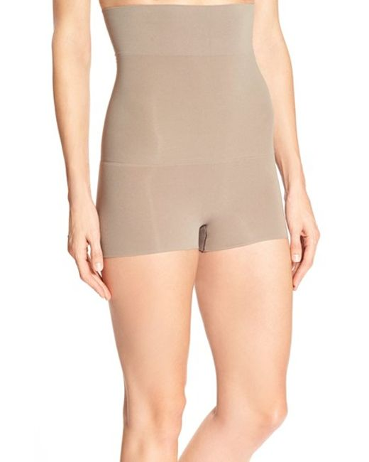 Spanx | Natural Spanx Higher Power High Waist Shaping Shorts | Lyst