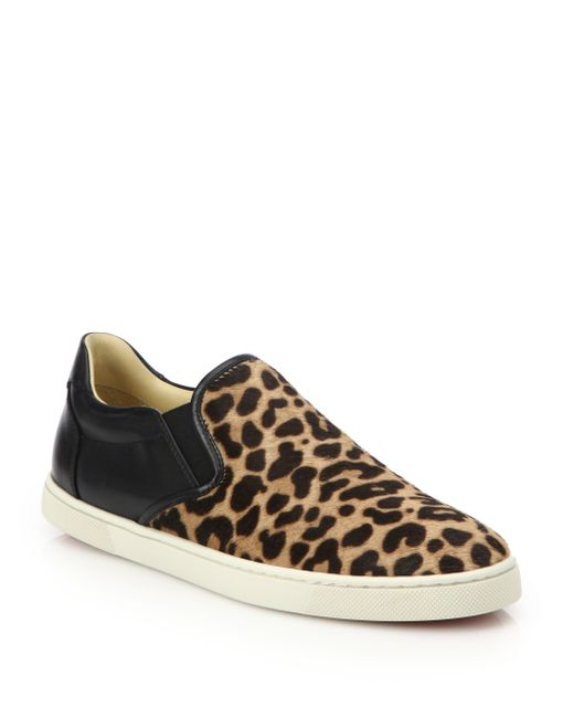 Christian Louboutin Master Key Leopard Print Calf Hair