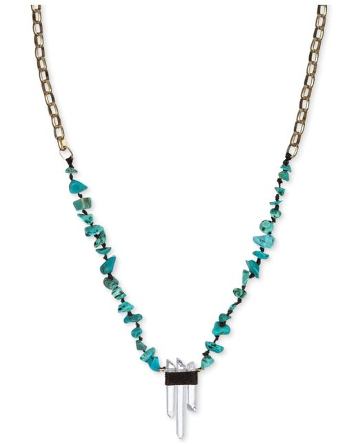 The Sak | Metallic Gold-tone Turquoise Beaded Crystal Pendant Necklace | Lyst