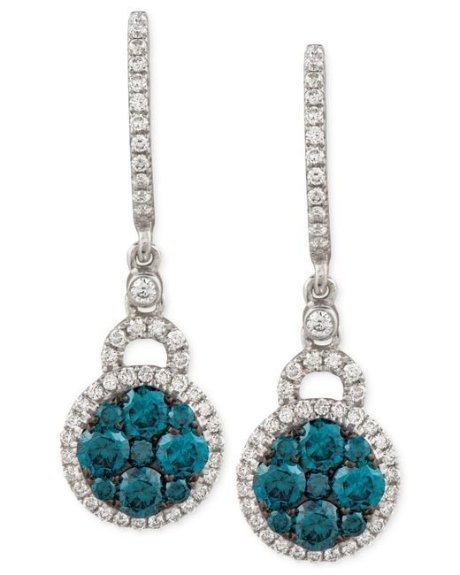 Le Vian | Exotics® Diamond Blue Earring (1 Ct. T.w.) In 14k White Gold | Lyst