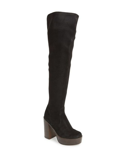 TOPSHOP | Black 'buddy '70s' Over The Knee Boot | Lyst