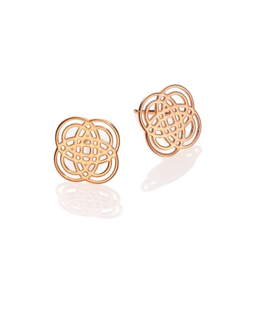 Ginette NY | Pink 18k Rose Gold Purity Stud Earrings | Lyst